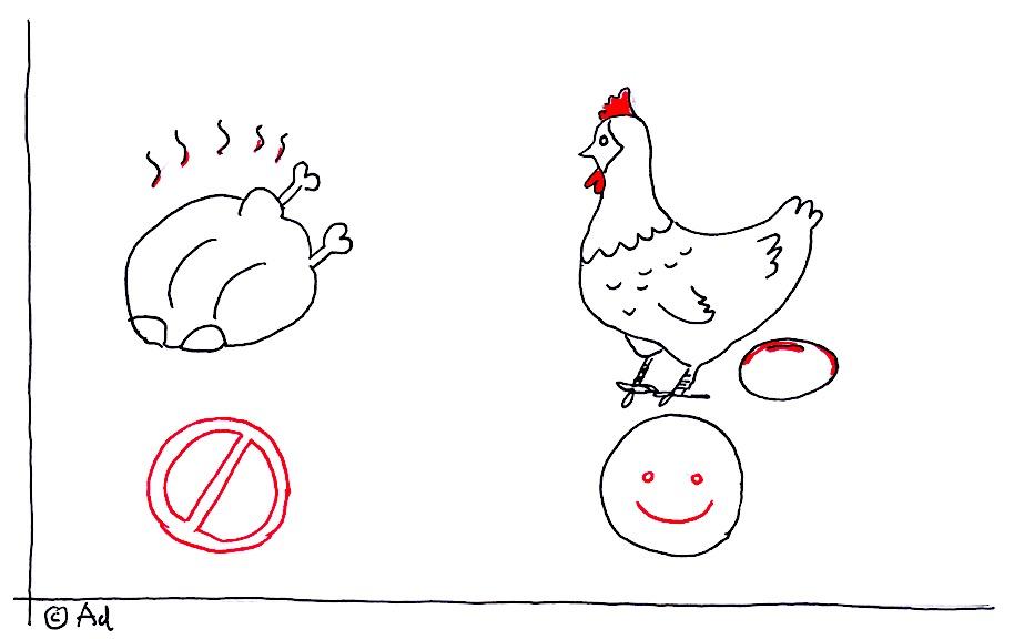 kip met gouden eieren